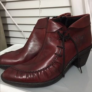Red Rieker boots size 38
